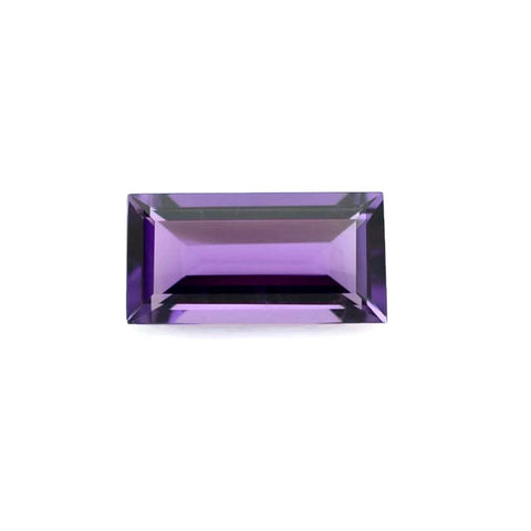 Natural amethyst baguette cut 5x2.5mm gemstone