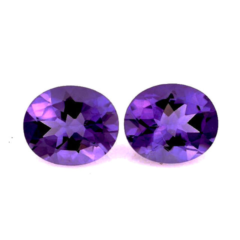natural amethyst oval cut  12x10mm gemstone