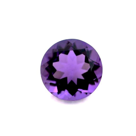 natural amethyst round brilliant cut 10mm loose gemstone