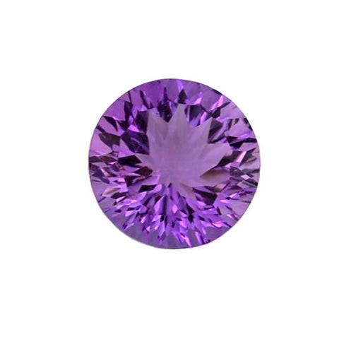 amethyst round concave cut 12mm gemstone
