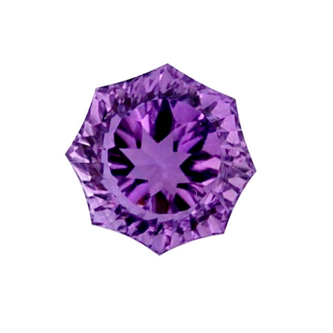 natural amethyst round flower concave cut 10mm loose gemstone