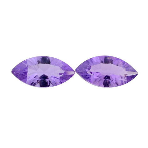 Natural amethyst marquise concave cut 10x5mm gemstone