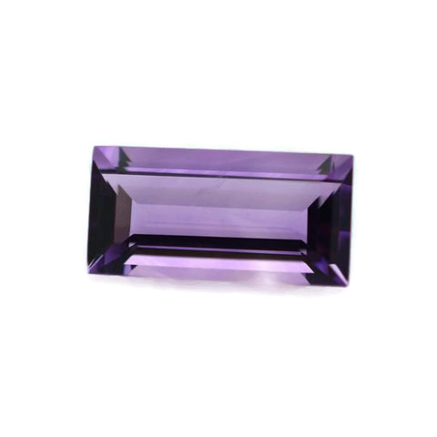 Natural amethyst baguette cut 14X7mm loose gemstone