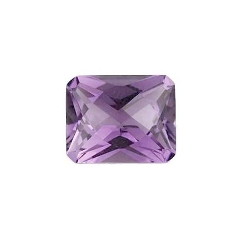 natural amethyst emerald octagon checkerboard cut 12x10mm gemstone
