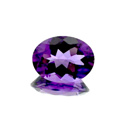 amethyst oval cut 16x12mm gemstone