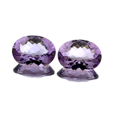 Natural amethyst oval checkerboard cut 20x15mm gemstone