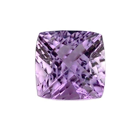 natural amethyst concave cushion cut 12mm loose gemstone