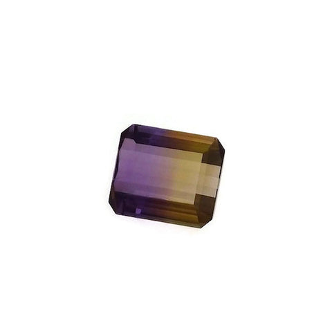 Ametrine emerald octagon shape - 15 x 13 mm