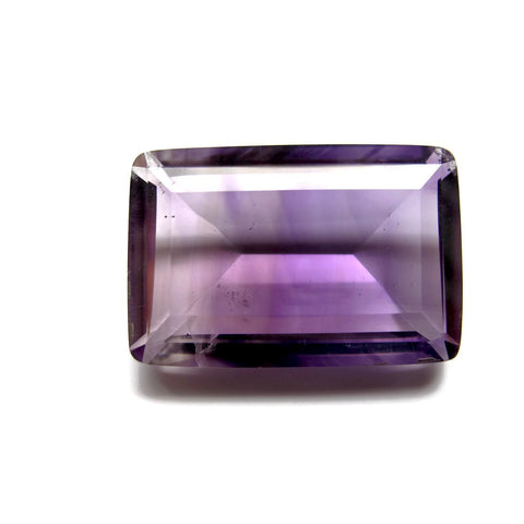 amethyst purple bi-colour baguette cut 24x16mm 24.55 carats stone