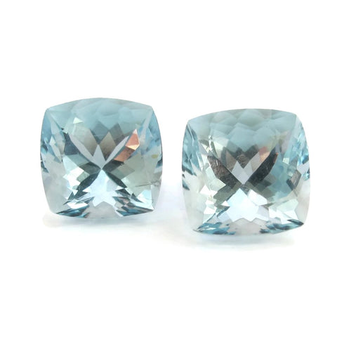 aquamarine blue cushion cut 8mm gemstone from Brazil