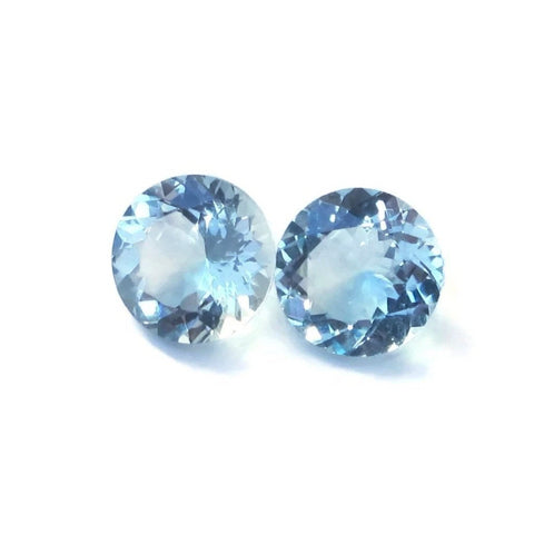 aquamarine round 8mm natural gem