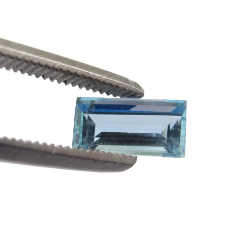 aquamarine blue baguette cut 8x4mm precious stone