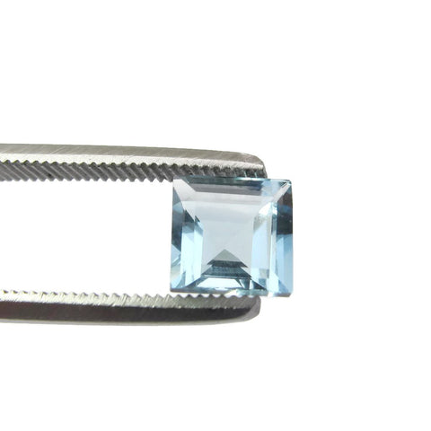 aquamarine blue square cut 6mm AAA natural gemstone