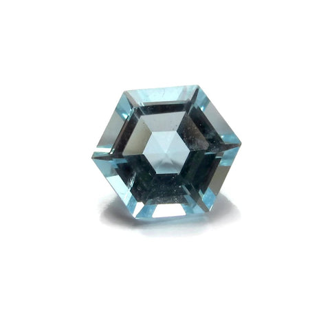 Aquamarine hexagon step-cut - 6mm