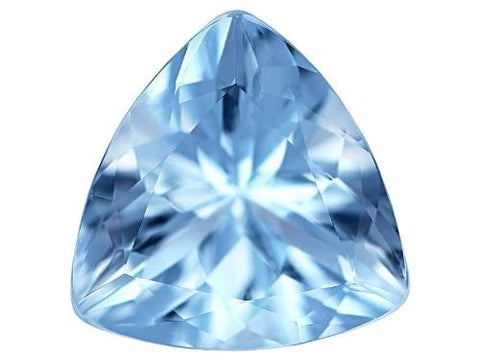 aquamarine blue trillion cut natural extra quality 5mm gemstone