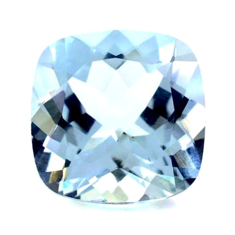 Aquamarine cushion cut - 7mm
