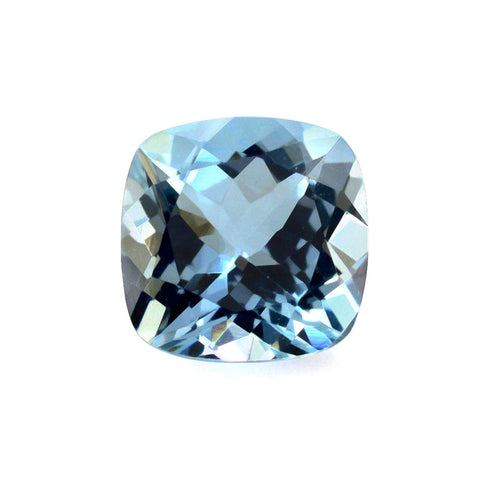 aquamarine blue cushion cut 6mm extra-quality AAA natural loose gemstone