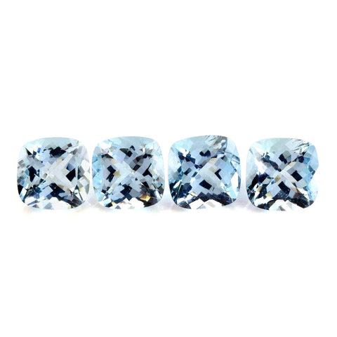 aquamarine blue cushion cut 5mm gemstone AAA quality