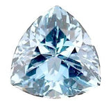 aquamarine trillion cut 7mm extra quality genuine gemstone