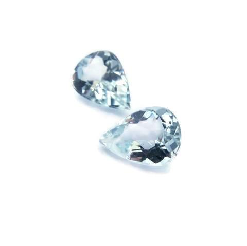 aquamarine blue pear cut 7x5mm light colour gemstones