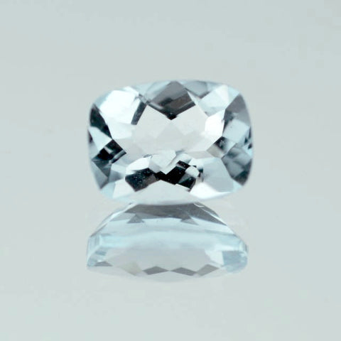 Natural aquamarine cushion cut 6x4mm loose stone.