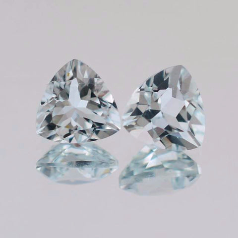 Aquamarine trillion cut B - 5 mm