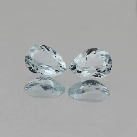 Aquamarine pear cut - 8x5mm (pair)