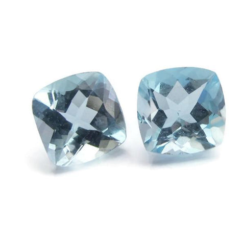 aquamarine cushion cut 6mm loose gemstone