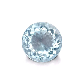 Natural aquamarine round 4mm loose gemstone from Brazil