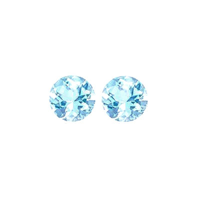 aquamarine blue round brilliant cut 2.5mm loose gemstone