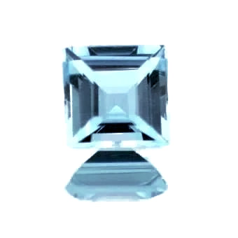 Aquamarine blue square cut 5mm natural gemstone