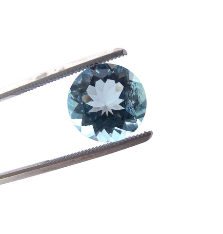 Aquamarine round cut - 10mm (AAA)