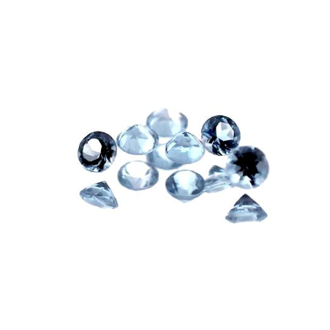 aquamarine round brilliant cut 2.25mm gemstone