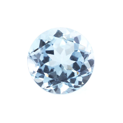 natural aquamarine round cut 6.5mm gemstone