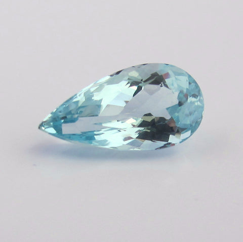 Aquamarine pear cut - 13 x 7 mm - AA