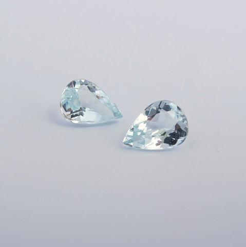 Aquamarine pear cut - 07 x 05 mm (pair) - B