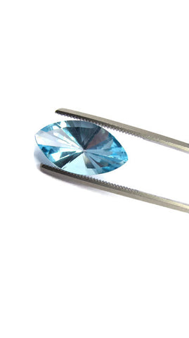 natural sky blue topaz marquise mirror cut 16x8mm gemstone