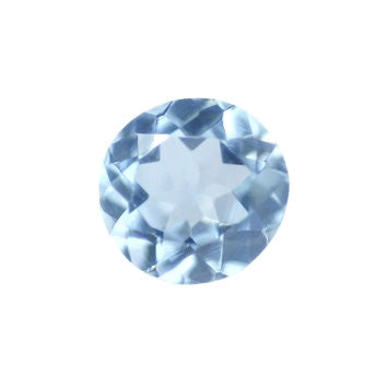 Natural sky blue topaz round brilliant cut 8mm gemstone