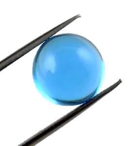 Swiss blue topaz round cut cabochon 6mm natural gemstone