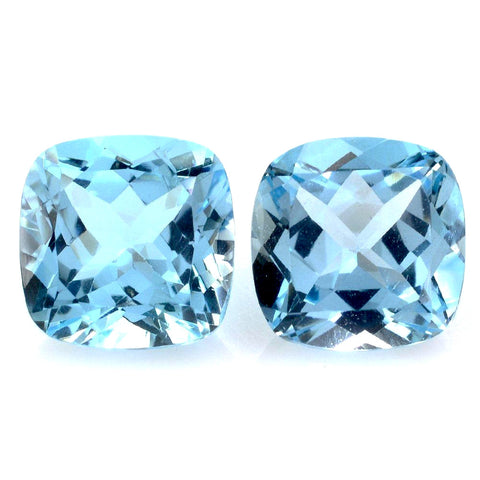 sky blue topaz cushion cut 9mm natural gemstone