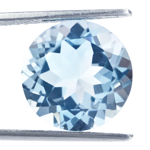 Sky blue topaz round cut 6mm loose gemstone