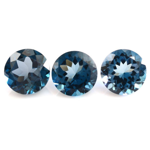 London blue topaz round cut 6mm loose gemstone