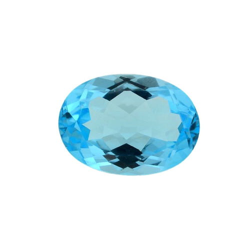 natural sky blue topaz oval cut 12x8mm loose gemstone