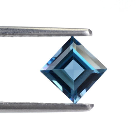 london blue topaz 3mm square natural loose gemstone