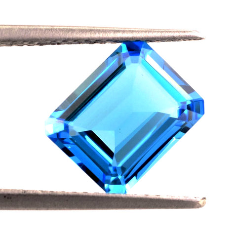 Blue topaz octagon emerald cut - 14x12mm (Swiss)