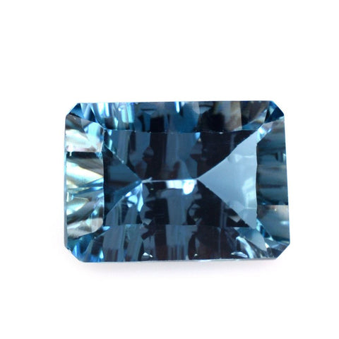 Blue Topaz octagon cut - 10 x 8 mm