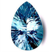 natural swiss blue topaz pear concave cut 9x6mm gemstone
