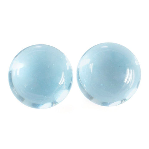 sky blue topaz round cut cabochon 6mm natural gemstone