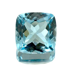 Blue Topaz cushion cut - 7mm (Sky)