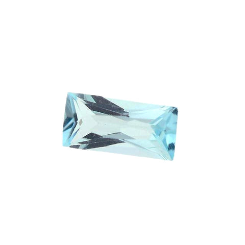 natural sky blue topaz baguette cut 6x3mm gemstone